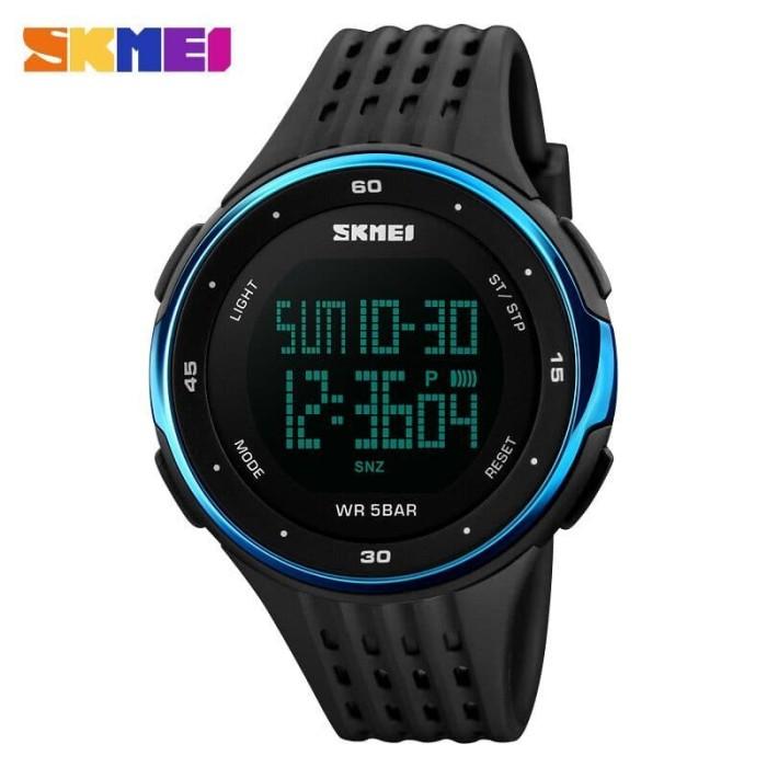 Jam tangan digital pria - dg1219 - black-blue - skmei
