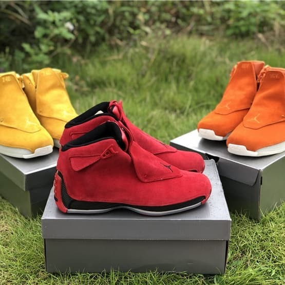 b5130dd55db585 ... coupon code for air jordan 18 suede pack toro campfire orange yellow  ochre sail 937e6 6f90f