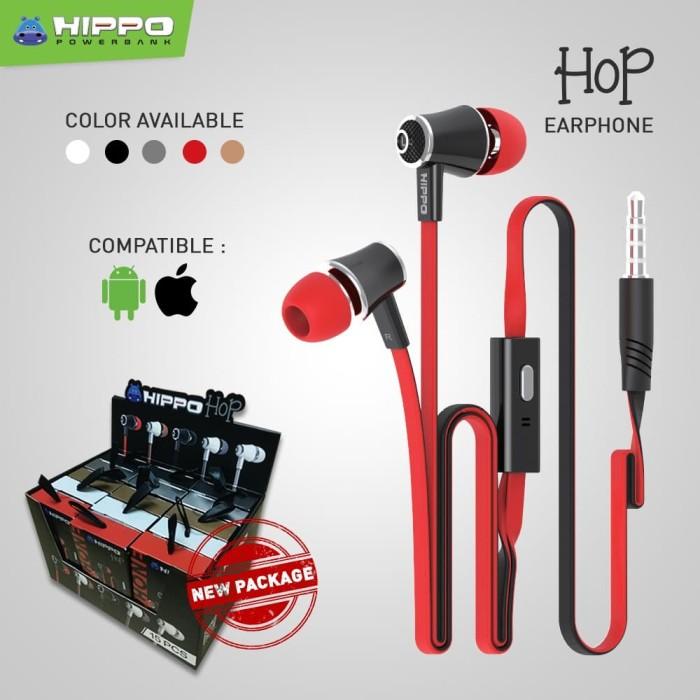 harga Hippo handsfree earphone headset pack hop - white Tokopedia.com
