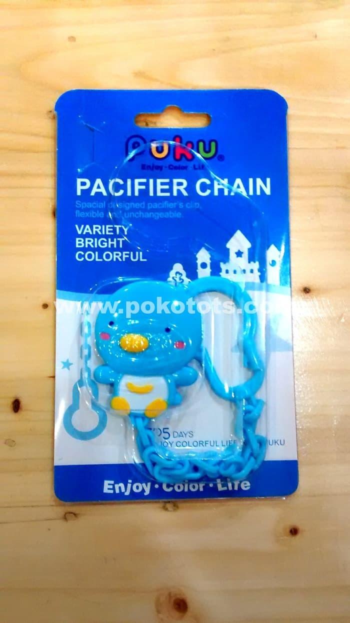 Gantungan Empeng Rantai Puku Pacifier Clip Chain - Biru