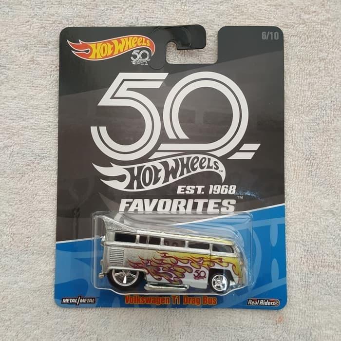 harga Hot wheels 50th favorites 1968 - volkswagen t1 drag bus Tokopedia.com
