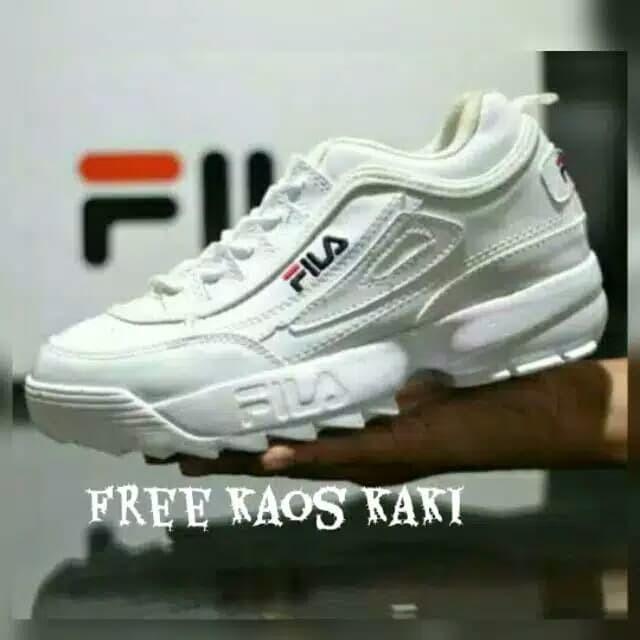 Jual Sepatu wanita sports sneakers fila disruptor 2 olahraga running ... 761cac6bab