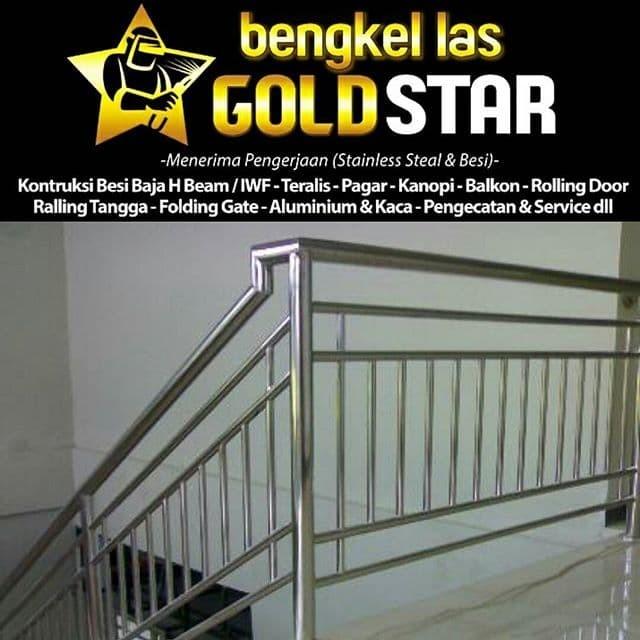 Jual Railing Tangga Stainless Jakarta Utara Gold Star Bengkel