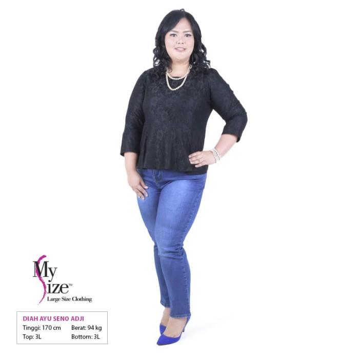 5295b6848200fc Jual My Size Celana Panjang Soft Jeans BLUBL301 - Biru, 5L - DKI ...
