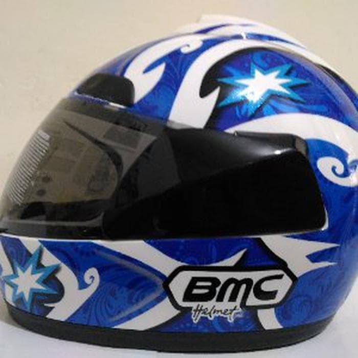 HELM BMC JAZZ 12 WHITE BLUE FULL FACE