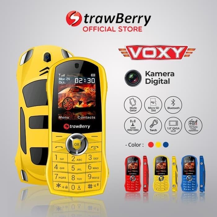 harga Strawberry - voxy / candybar / handphone murah / kamera digital / blue - kuning Tokopedia.com