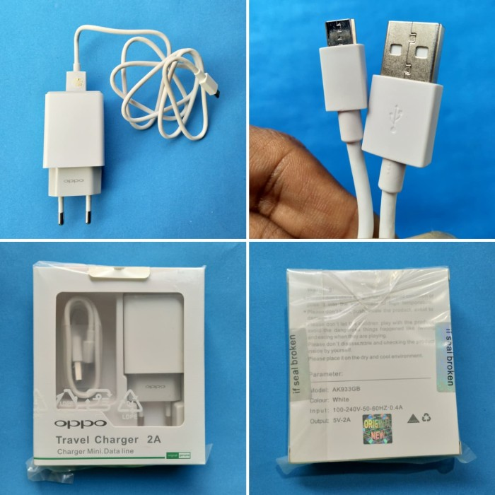 Charger Oppo F3 Original 100% Output 2 Ampere - Model Ak933yh -