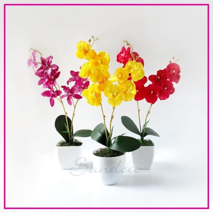 Jual Rangkaian Bunga Anggrek 75 Artifisial Hiasan Dekorasi Pajangan ... 5ee42b608f