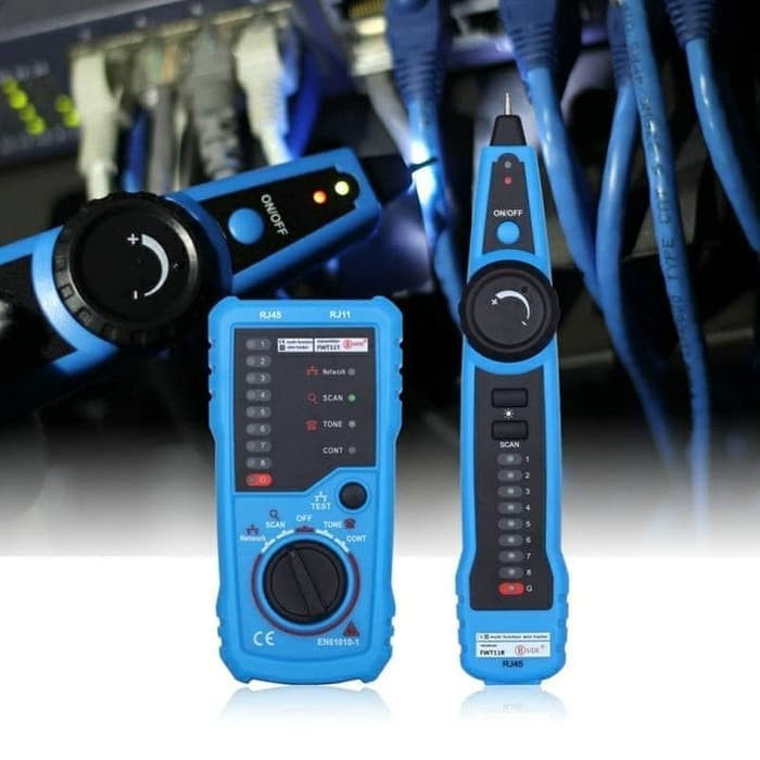 Bside Network Cable Tester RJ45 RJ11 Wire Tracker Telephone Line Tester LAN TV Electric Line Finder Toner Network Cable Collation Continuity Checker with Flashlight