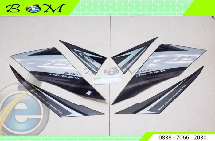 Striping Sticker Yamaha R15 V2.0 V 2 2014 Midnight Black Hitam AB