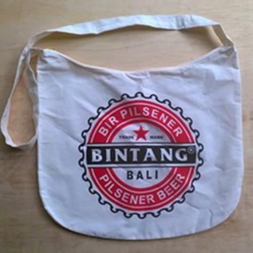 Tas selempang sling bag Bintang khas bali bahan kuat paling murah - Putih