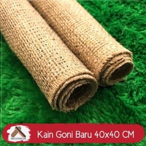 Kain Goni 40x40 CM - Karung Goni Fotografi - Table Runn Diskon