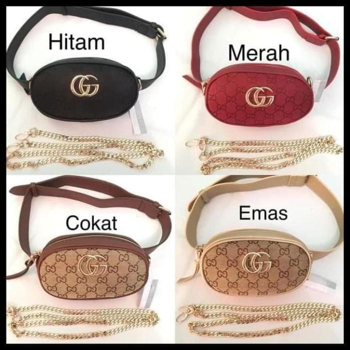 Jual PROMO Tas Wanita Tas Batam Import Gucci Belt Nagita Mini Canvas ... 2a45bc115d