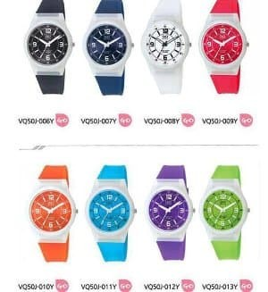 Jam tangan Q Q anak perempuan VQ50 putih transparan QQ VQ- Berkualitas 59c425ca96