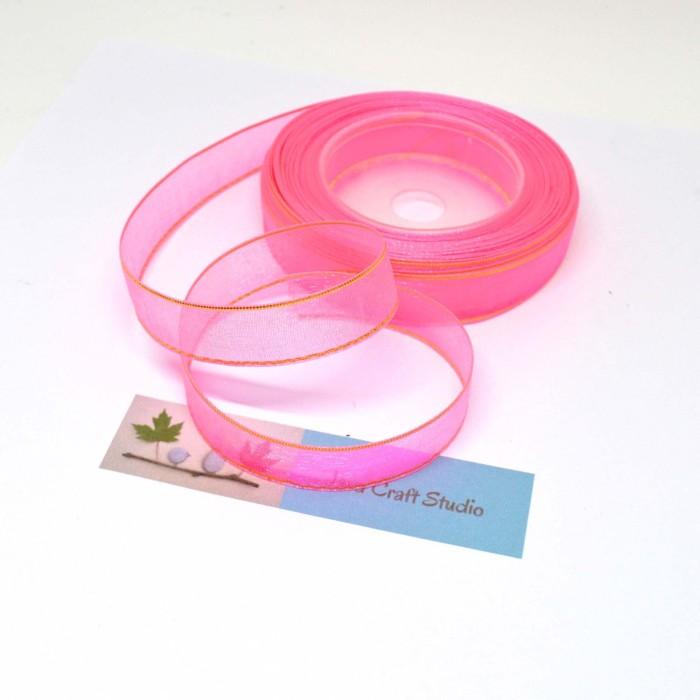 Jual Pita Organdi List Emas Warna Pink Fanta Ukuran 14 Cm Java