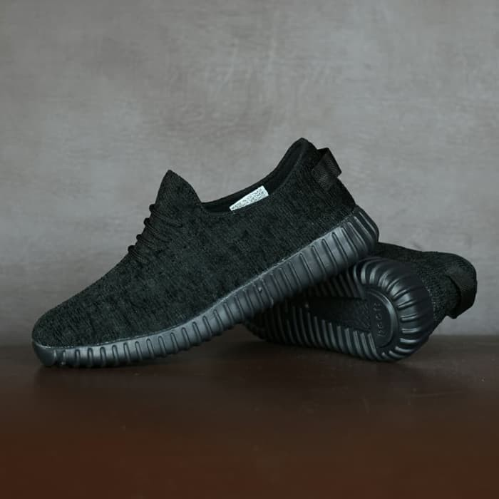 003511d77b4ad Jual Sepatu Adidas Yeezy YZY Full Black Hitam Sport Casual Sneakers ...