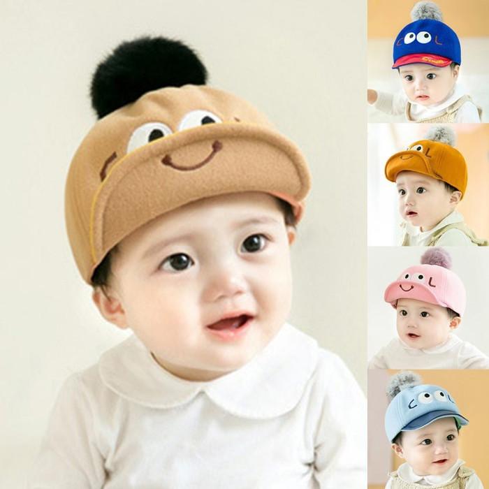 Jual Topi Bayi Anak Laki Perempuan Korea Trendi Trendy Pom Pom