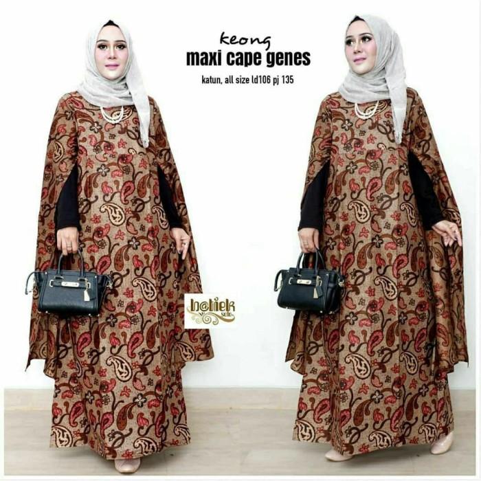 Jual Baju batik gamis maxi cape sogan terbaru fashion gamis batik ... 1266445ea1