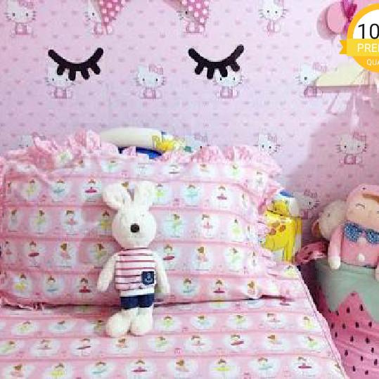 Jual Wallpaper Dinding Kamar Anak Kartun Hello Kitty Pita Pinx Bagus