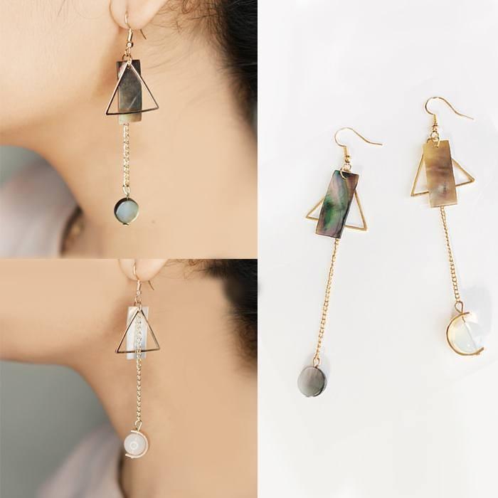 Round Shape Pendant Decorated Simple Tassel Earrings. Source · LRC Anting Tusuk .