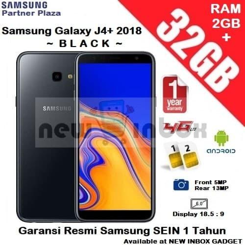Jual Samsung Galaxy J4 Plus 2018 2gb 32gb Black Garansi Resmi