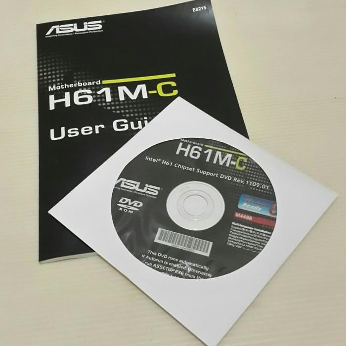 Jual CD Driver Motherboard Asus H61M-C plus manual book - Kab  Bekasi -  Garagesale onlineshop   Tokopedia
