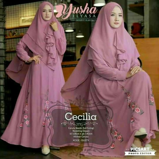 Jual Cecilia Yusha Gamis Syar I Lesta Online Shop Tokopedia