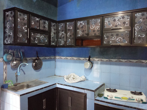 Jual Kitchen Set Alumunium Kaca Rak Dapur Gantung Aluminium Cahaya