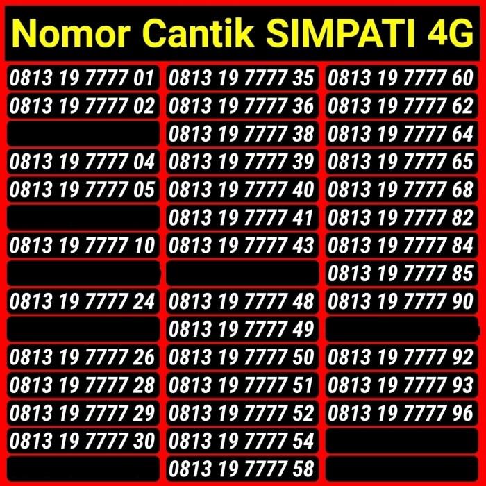 Telkomsel Kartu Perdana Simpati 4G LTE Nomor Cantik 777 888 999 000