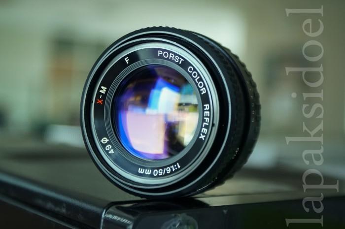 Porst Color Reflex 50mm F1.6 E-Mount Bokeh Tajam Joss - Rare Item