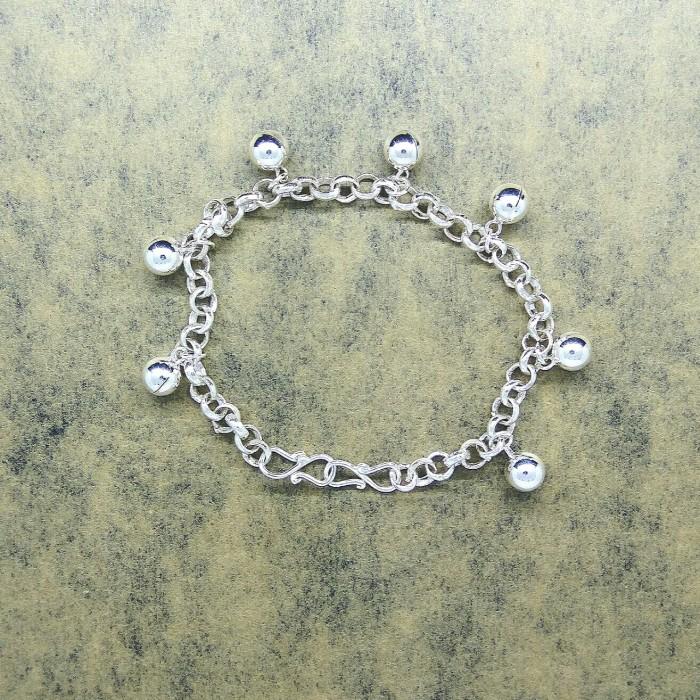 Foto Produk Perhiasan Gelang Tangan Kaki Perak Kerincing Bayi Anak Dewasa Wanita dari WL shop