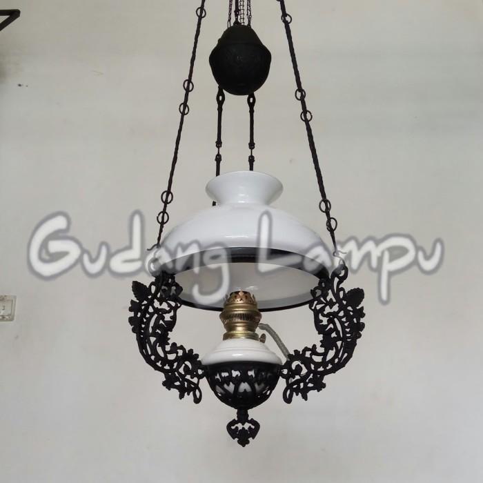 Lampu Gantung Klasik Antik Kerek R-28 Hitam