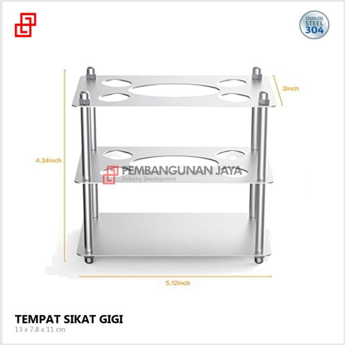 Jual Tempat Sikat Gigi Odol Pena Pensil Stainless Steel Minimalis ... af40d7e4f2