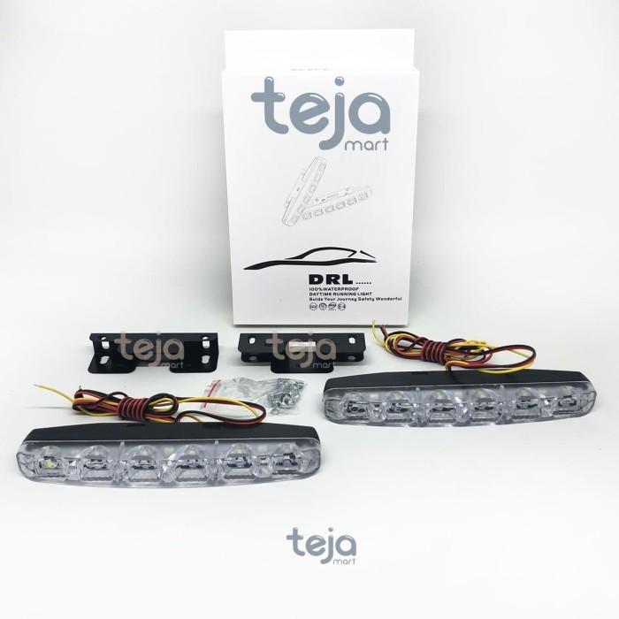 Foto Produk SEPASANG LAMPU LED DRL 6 TITIK & SEN/SEIN WATERPROOF SENJA GRILL DRG dari TejaMart