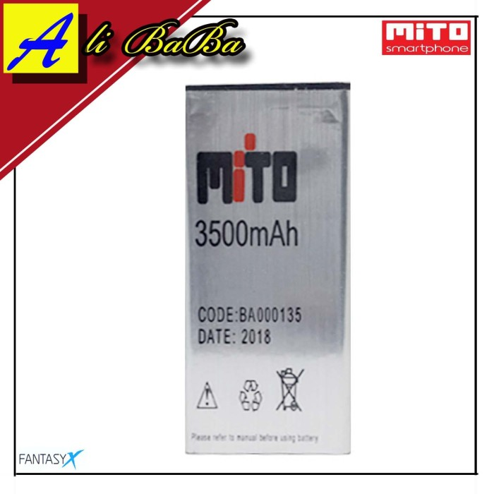 harga Baterai handphone mito a17 fantasy x ba-000135 double power mito batre Tokopedia.com