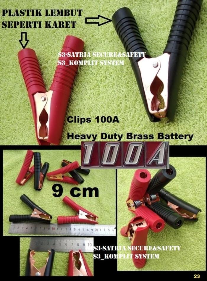 Foto Produk Jepitan Buaya Aki 100A Clip besar 9 cm Jepit Accu batteray 9cm dari S3-Satria Secure&Safety