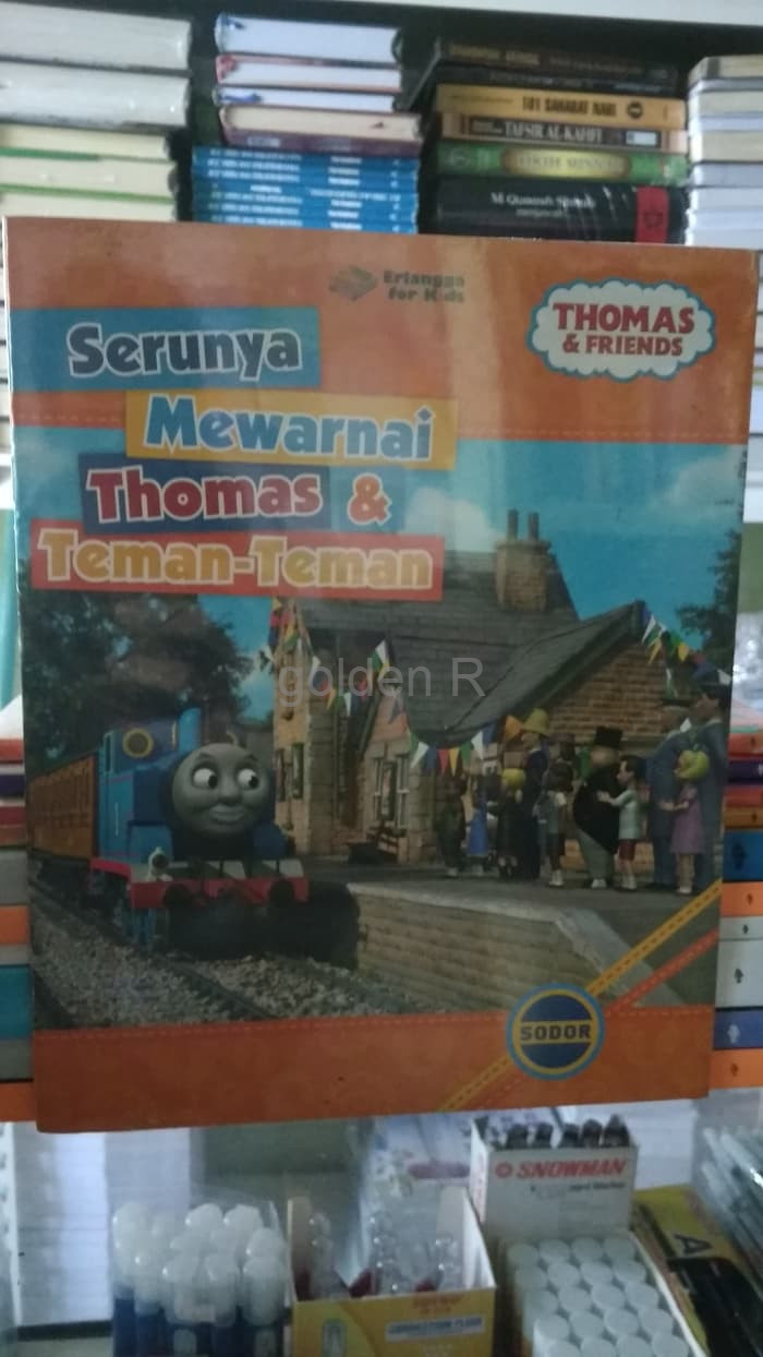 Jual Ready Stcok THOMAS FRIENDS SERUNYA MEWARNAI THOMAS TEMAN TEMAN ORIGIN Jakarta Barat Golden R