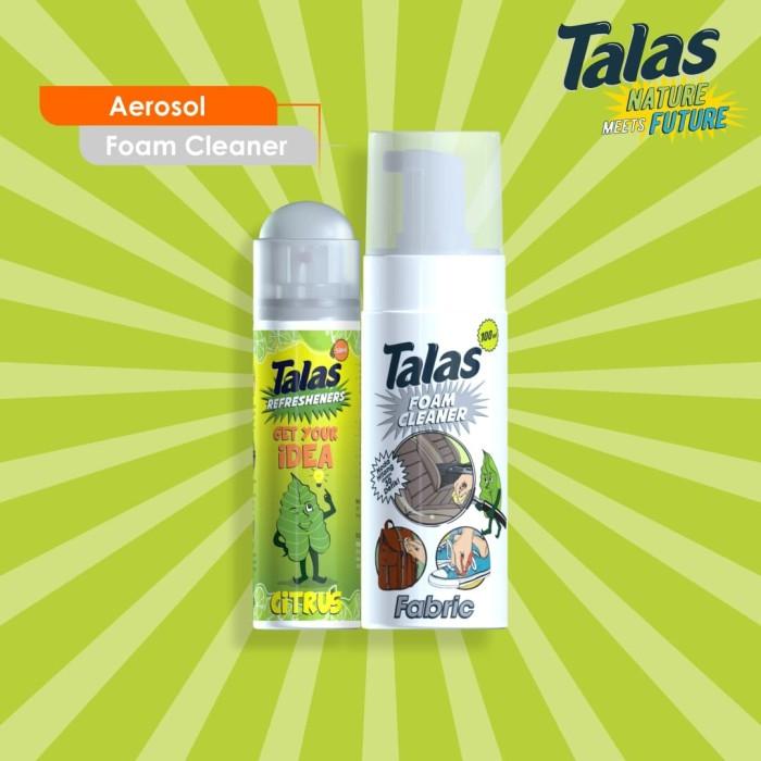 Talas Foam Cleaner Fabric (Pembersih) & Talas Refreshener Aerosol Citrus (Pengharum) - Blanja.com