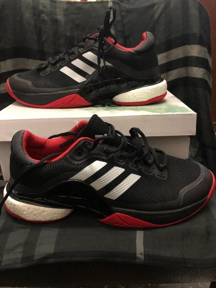 harga Sepatu adidas tennis barricade boost 2017 black red premium original Tokopedia.com