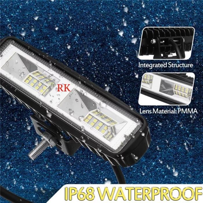 harga Lampu tembak sorot led mobil dan motor model slim waterproof offroad Tokopedia.com