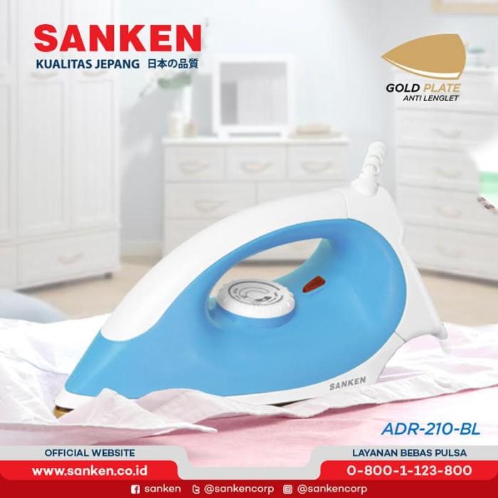 harga Sanken adr-210 / adr-211 setrika listrik gold plated warna random - biru Tokopedia.com
