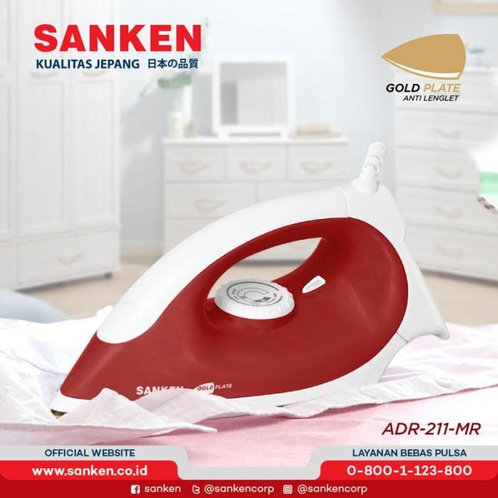 harga Sanken adr-210 / adr-211 setrika listrik gold plated warna random - merah Tokopedia.com