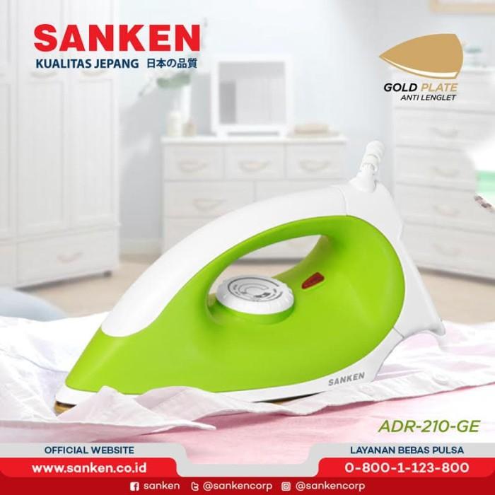 harga Sanken adr-210 / adr-211 setrika listrik gold plated warna random - hijau muda Tokopedia.com