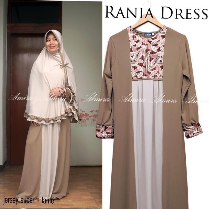 KUALITAS SUPER Gamis / Baju Muslim Cantik Rania Dress (Gamis saja)
