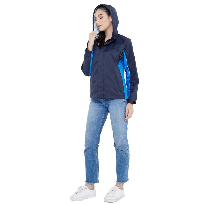 Zoleka Calma Neo Jaket Motor Packable Tahan Angin Wanita - Grey Blue - Blanja.com