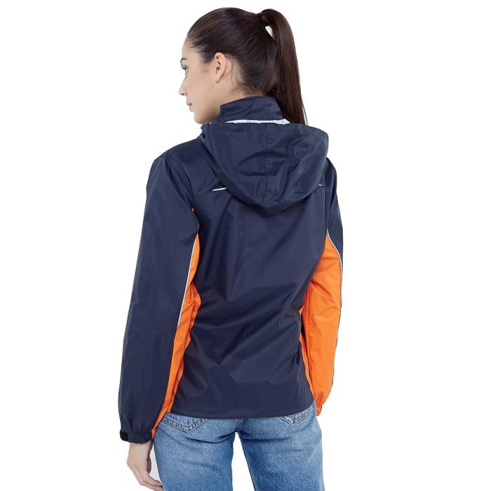 Zoleka Calma Neo Jaket Motor Packable Tahan Angin Wanita - Grey Orange - Blanja.com