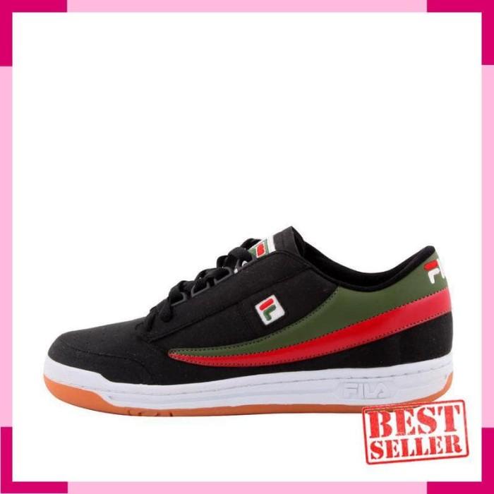 Jual Fila Sepatu Tenis Olahraga Original Tennis - BLACK WHITE GREEN ... 61924d6250
