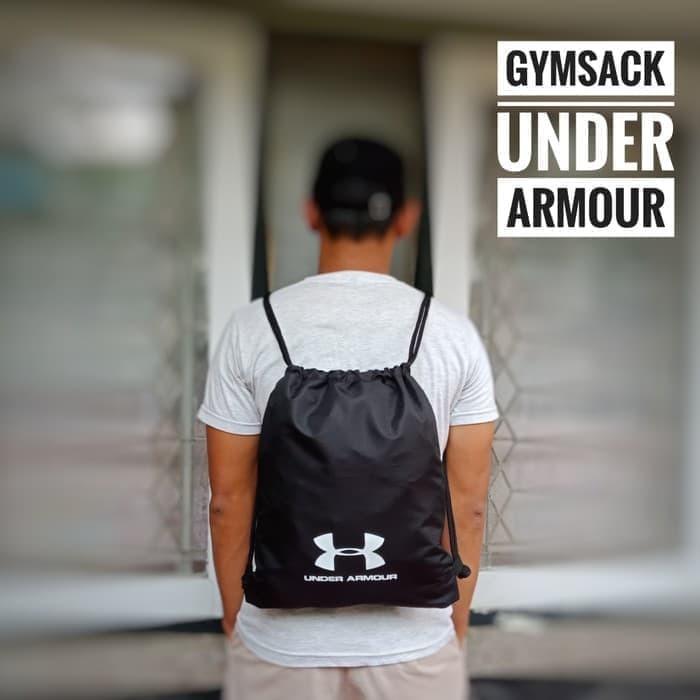 158a61ccf671 Jual Gymsack Drawstring Tas Serut Tas Underarmour Murah gym fitnes ...
