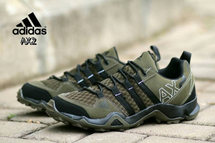 Jual Sepatu Sneakers Pria Adidas Ax2 Green Army Casual Sport