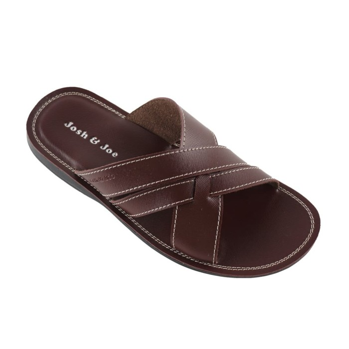 harga [flash sale] josh&joe sandal pria kulit keren casual - 24ssct - cokelat 38 Tokopedia.com